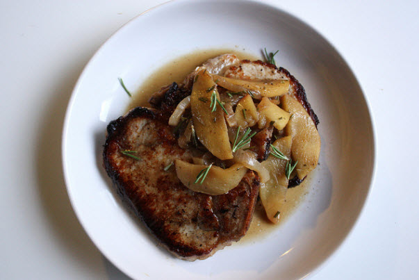 Caramel Apple Pork Chops Recipe — Dishmaps
