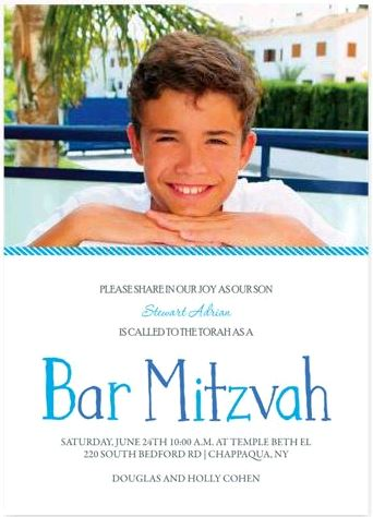 Post image for Bar Mitzvah Invitations to Match Your Party Theme