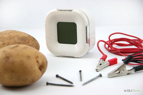Potato Powered Clock